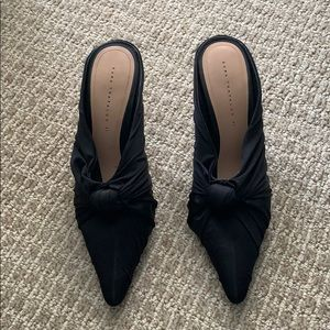 Zara high heel black mule